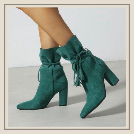 Tassel decor lace up chunky ankle boots from Shein   #LTKstyletip #LTKunder50 #LTKshoecrush
