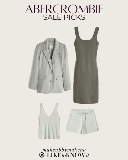 http://liketk.it/3gr7O #liketkit @liketoknow.it #LTKsalealert #LTKfit  save at least 25% on select Abercrombie styles for Memorial Day weekend, including these sage green dresses, blazers, and matching sets for spring and summer