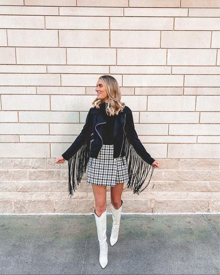 I call this modern cowgirl 😉 Plaid skirt is Sugar & Spice Apparel 🤍 http://liketk.it/35JG1 @liketoknow.it #liketkit #LTKNewYear #LTKshoecrush #LTKstyletip