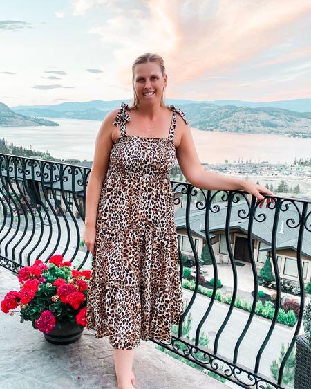 The best leopard dress   http://liketk.it/3hMF9 @liketoknow.it #liketkit #LTKstyletip #LTKsalealert #LTKunder50 #summerdress