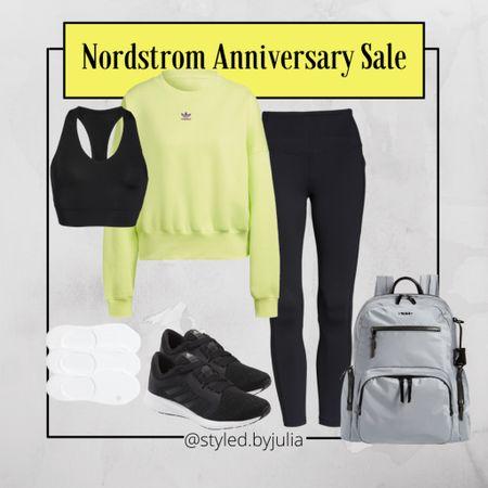 Travel outfit, athletic wear, lounge wear, backpack, work from Home, black sneakers, sports bra, adidas  #LTKunder100 #LTKstyletip #LTKtravel