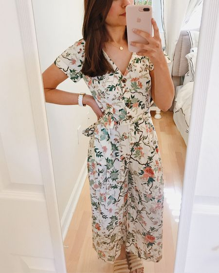 Floral jumpsuit. Work from home style. Gal meets glam collection.  http://liketk.it/2Mg91 #liketkit @liketoknow.it #LTKspring #StayHomeWithLTK #LTKunder100