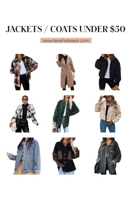 Jackets & Coats Under $50 on Amazon!!