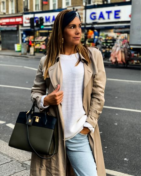 Concert outfit / trench with jeans http://liketk.it/2Buf9 #liketkit @liketoknow.it