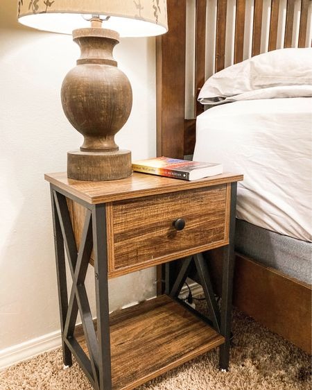 Beautiful bedside table, perfect for a college dorm or apartment. Easy to put together, very sturdy and has a usb charger. Win win!!!  #LTKbacktoschool #LTKhome #LTKunder100