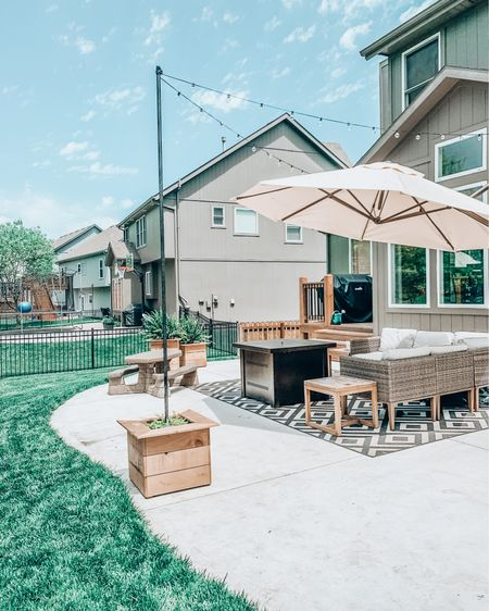 At least if we have to be quarantined we can enjoy our outdoor space, right? 💕 We've spent so much time out here and I'm not even mad about it!  How would you describe YOUR outdoor space currently?  a. simple cozy neutrals b. bright boho c. modern chic  Hop over to my stories to grab all the details on our patio pieces. And make sure you're subscribed to the blog so you know when the DIY planter post goes LIVE! You can shop this pic using the @liketoknow.it app.     #liketkit #StayHomeWithLTK #LTKMothersDay #LTKhome http://liketk.it/2O710
