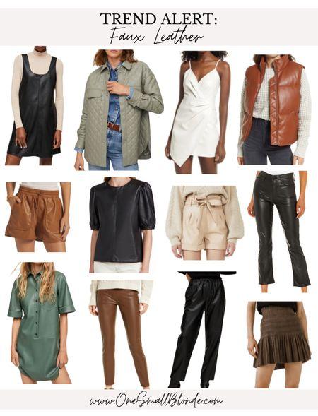 Faux leather picks for fall! 🍂🍁🤍  #LTKstyletip #LTKunder100 #LTKSeasonal