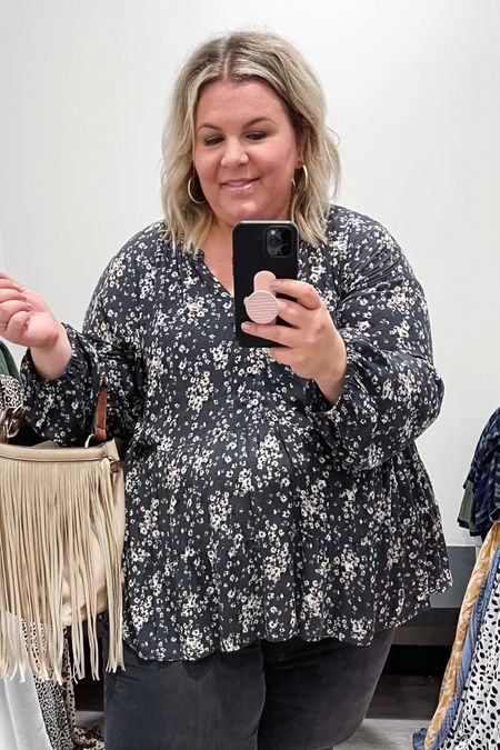 This plus size babydoll top is perfect for plus size workwear or to throw on with jeans.   #LTKcurves #LTKunder100 #LTKstyletip