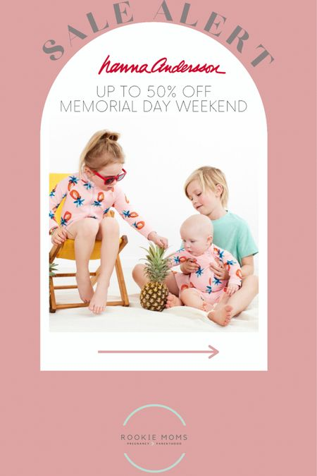 Up to 50% off Hanna Anderson sitewide for Memorial Day weekend    http://liketk.it/3gqi2 #liketkit @liketoknow.it #LTKunder50 #LTKsalealert #LTKkids @liketoknow.it.family Shop your screenshot of this pic with the LIKEtoKNOW.it shopping app