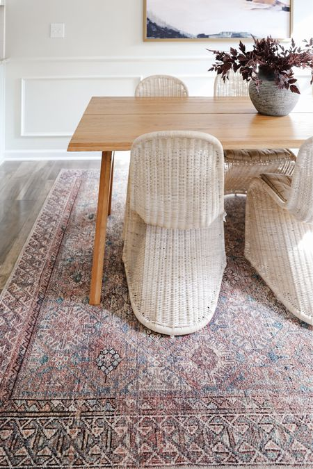 Amber interiors x loloi, vintage inspired rug, low pile rug, pink rug, pink and blue rug   #LTKhome