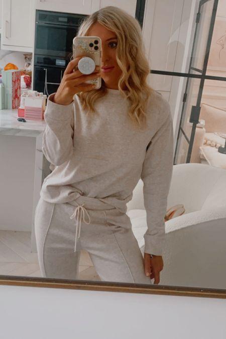 Lounge set - lounge wear - knitwear - pyjamas - comfy clothes - lounge pants - jumper - knitwear set - knit co-Ord - boucle chair - cream chair - statement chair - made chair - curled hair - hair tongs - hair curler - hair curlers   #LTKeurope #LTKbeauty #LTKGiftGuide