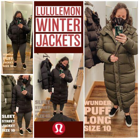 New Lululemon Winter Coats round up! ❤️   #LTKcurves #LTKfit #LTKstyletip