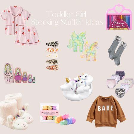 Toddler Girl Stocking Stuffer Ideas  #LTKHoliday #LTKGiftGuide #LTKkids