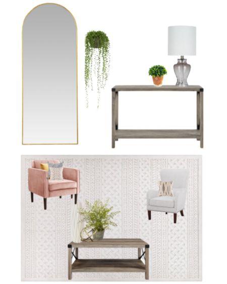 Budget friendly living room refresh.   Spring Decor : Walmart Finds : Boho Style : Faux Plants : Home Decor   #LTKhome #LTKunder100 #LTKunder50 #liketkit @liketoknow.it http://liketk.it/3axXj