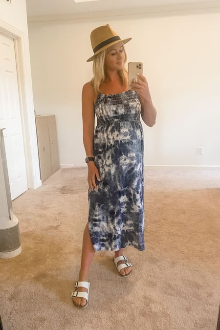 Remember now I was wanting some easy summer dresses? This one is 👌🏼👌🏼👌🏼 SO comfortable, not see through, and the perfect cut for a bump (non maternity). Plus, I'm such a sucker for tie dye lately! http://liketk.it/3hSlC @liketoknow.it #liketkit #dress #dresses #sandals #birkenstocks #hat #strawhat #momlife #bump #bumpstyle #bumpoutfit #maternity