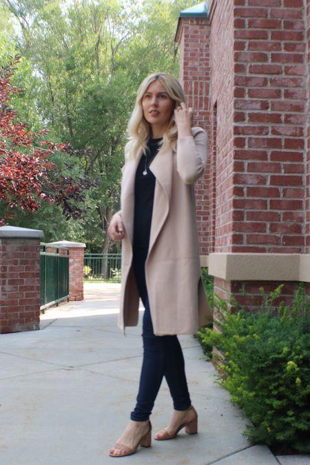 Cozy neutral coat for fall 🍁  #LTKSale #LTKSeasonal #LTKunder100