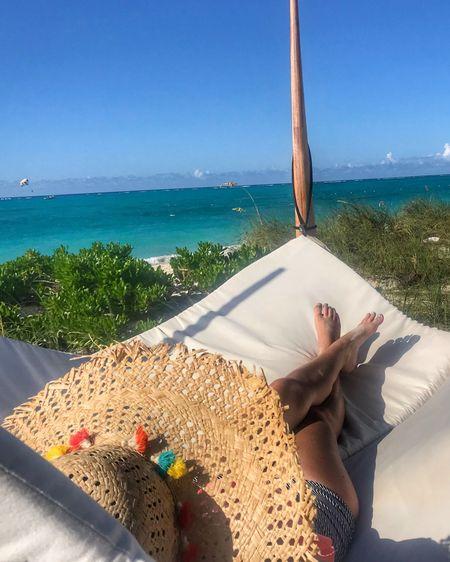 Nothing but sunshine and blue skies at #Beachesturksandcaicos Buy this hat:http://liketk.it/2xSzC #liketkit @liketoknow.it #LTKswim #beachesmoms #socialmediaonthesand