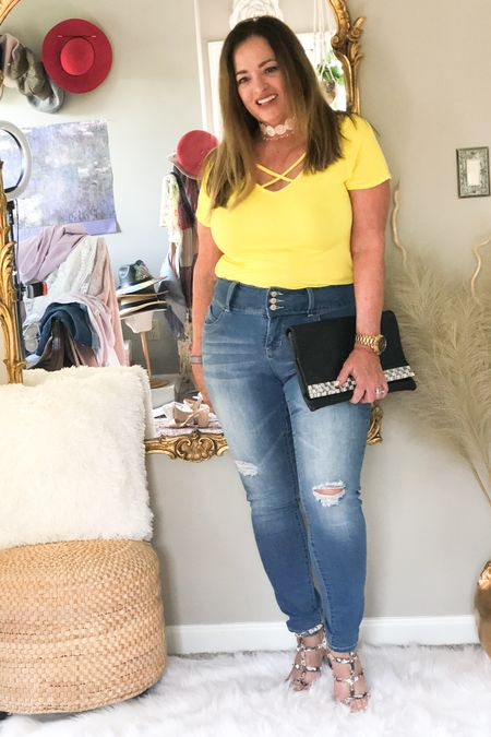 Wearing my awesome new jeans from @royaltyfor me denim! #gifted. Ladies talk about comfort and support! This denim line is fabulous.  Plus a fab price to boot! I linked my favorite tee and rock studded sandals for you. . . . . . . http://liketk.it/3cMaI #LTKshoecrush #LTKunder50 #LTKcurves #liketkit @liketoknow.it.family @liketoknow.it.home @liketoknow.it.europe @liketoknow.it.brasil @liketoknow.it Download the LIKEtoKNOW.it shopping app to shop this pic via screenshot