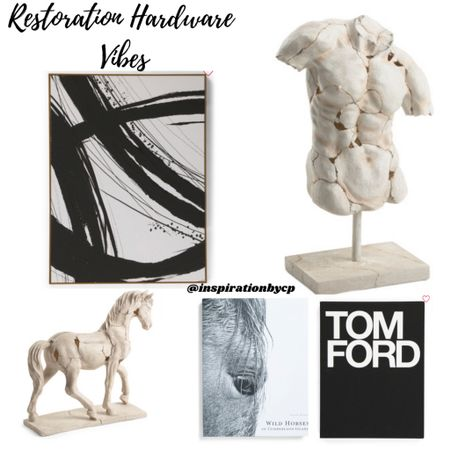 Restoration Hardware Sculpture Torso & Horse Dupes. Run before it's gone  http://liketk.it/3fdgl @liketoknow.it @liketoknow.it.brasil @liketoknow.it.europe @liketoknow.it.family @liketoknow.it.home #liketkit #LTKstyletip #LTKsalealert #LTKhome