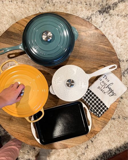 Upgrading to quality heavy-duty cast iron enameled cookware has been a dream! These are the pieces I chose. On the blog I'll explain into detail why I chose each piece. I have kept the deep dish sauté pan, sauce pan, skinny grill, and this beautiful Dutch oven busy! They wash beautifully even after caking food on them with a recipe. They are the perfect addition to our kitchen and home. Many colors available I went with Ocean, Nectar and Matte White #StayHomeWithLTK #LTKhome #liketkit #LTKfamily @liketoknow.it @liketoknow.it.home http://liketk.it/30So1