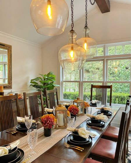 Our fall dining room full of favorite finds from #WalmartHome @walmart #wowandnow    #LTKHoliday #LTKSeasonal #LTKhome