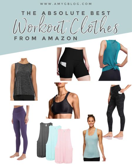 Check out some of the best workout gear you can grab from Amazon now! // Workout clothes // Athleisure .  http://liketk.it/39NwK @liketoknow.it #liketkit #LTKfit #LTKunder50