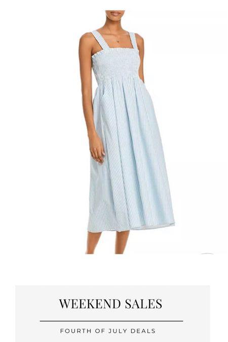 Bloomingdales sale, Fourth of July weekend sales, summer dress, wedding guest looks,   #LTKsalealert #LTKunder100