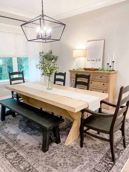 Dining Room Inspo! #diningroomdecor #diningroomfunriture #diningroominspo #machinewashablerug #ruggable #potterybarn #target #amazonhome  #LTKhome #LTKunder100 #LTKunder50