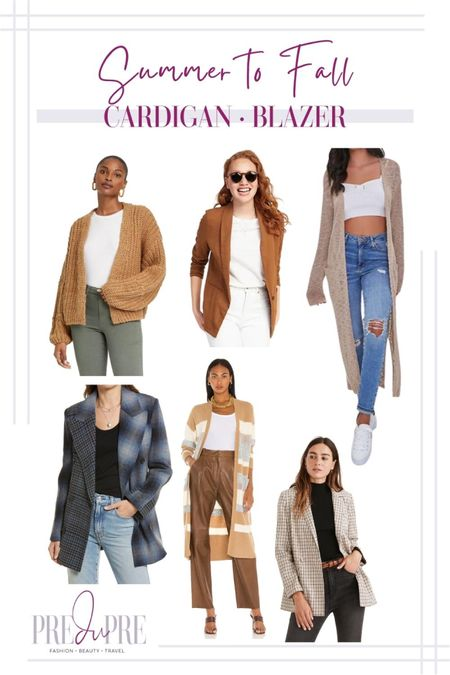 Transition your favorite summer outfits into the fall season with these five pieces. Read how to do easy-peasy season style changes on the blog www.predupre.com  http://liketk.it/3mWuP  cardigan, long cardigan, blazer, summer to fall, fall outfits, fall outfit ideas, fall looks, transition pieces   #LTKSeasonal #LTKstyletip