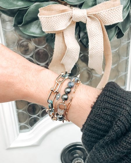 New jewels available on my e-Boutique! Head over to stelladot.com/whitneyharmon to shop new styles!   I have linked this cute evil eye bracelet and cardigan in the @liketoknow.it  app.    http://liketk.it/3aDnz #liketkit #LTKstyletip #LTKunder100 #LTKunder50
