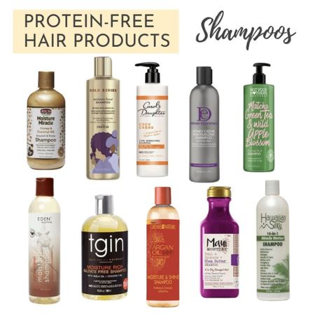 A list of 10 protein-free shampoos you can use on your relaxed hair or natural hair. TGIN, Pantene, Carol's Daughter.  http://liketk.it/3ey6K #liketkit @liketoknow.it   #LTKbeauty
