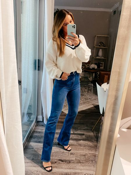 Medium sweater 26 regular flare jeans   #LTKSale #LTKsalealert