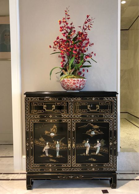 Adding a touch of Asian influence in our current penthouse project here in Dallas. We love this Chinoiserie chest we used. The master bathroom with hand painted oriental designs. You can shop some of our favorite similar styles on our #liketkit page http://liketk.it/2v8fW @liketoknow.it #LTKhome #LTKstyletip @liketoknow.it.home