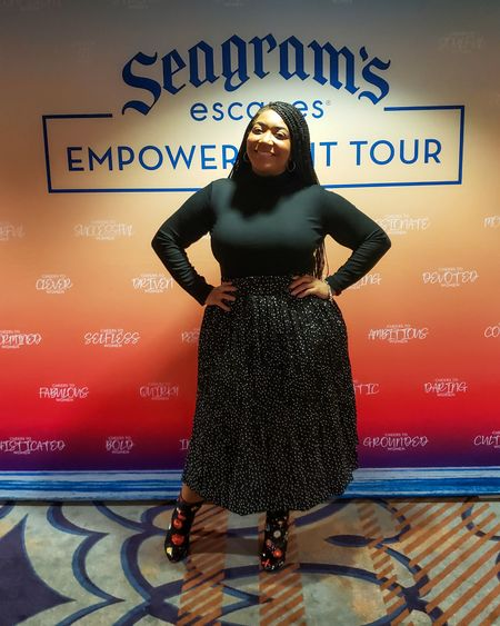 #ThrowBackThursday to this outfit I wore to the @seagramsescapes Empowerment Tour on Monday! I actually wore the top and skirt to work then switched out my booties to add a little something. @liketoknow.it #liketkit  👉🏽 https://www.amazon.com/shop/curvaceouslybee 👈🏽 Link in Bio! * * #founditonamazon #justfabstyle #seagramescapes #blackgirlblogger #melaninqueen #pearshape #blackandbeautiful #plussizeblogger #classyandfashionable #plussizefashion #celebratemysize #outfitgoals #mystylishcurves #goldenconfidence #memphisblogger #CurvaceouslyBee #memphisfashionblogger #plusmodelmag #tennesseeblogger http://liketk.it/2KSl8