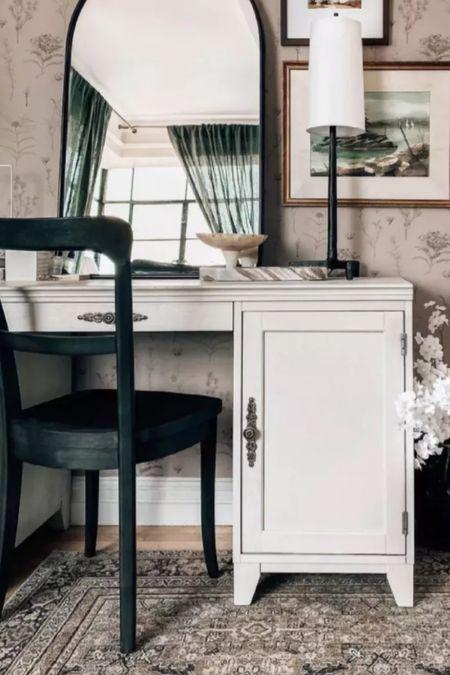 Bedroom Vanity, desk, chair, rug, lamp, mirror and more home decor    #LTKhome #LTKunder50 #LTKunder100