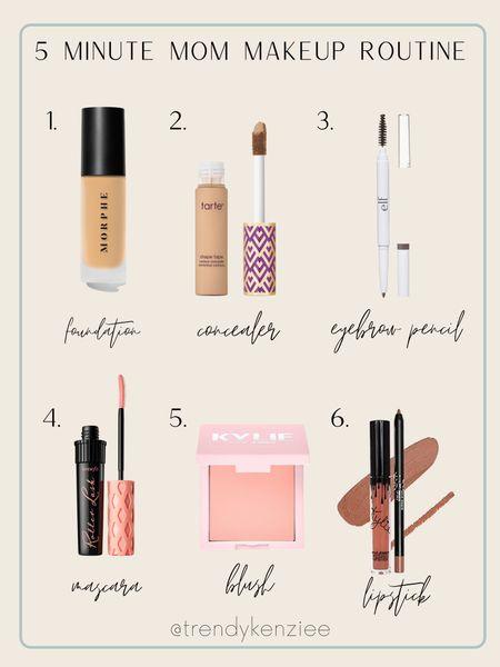 5 minute makeup routine   #LTKbeauty
