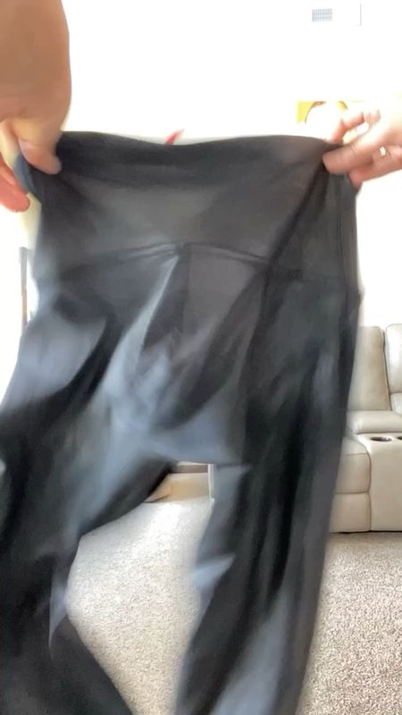 Multiple ways to style Spanx faux leather leggings! On sale for $64!!  I wear an xl tall  #LTKsalealert #LTKstyletip #LTKunder100
