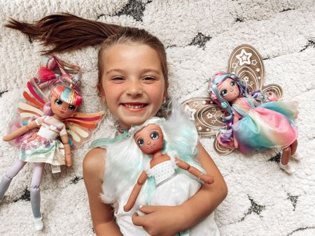 With the school year starting, I love hearing what the girls want to be when they grow up. I also love encouraging them to dream and use their imaginations.    We are excited to partner with @supermoosetoys to share Dream Seekers, magical friends who are here to share their dreams, and inspire the girls to follow theirs!   Dream Seekers are a range of beautifully crafted soft dolls with unique personalities: Luna, Hope, Bella and Stella! (Think: a modern, trendy take on the classic rag doll! )    Each Dream Seeker sits in their Dreamy Moon Packaging which has a special place for the girls to write their very own dreams!! Their Dream Seeker will keep their Dreams safe and wish for it to come true. Seriously, how fun is that?! I loved hearing the girls talk about their dreams (except when London told me she wrote that she dreamed she had 40 puppies. Clearly she loves animals like Bella, haha ).   The girls absolutely love their Dream Seekers' beautiful wings and removable fashions! Each doll comes with 3 hair clips and a comb to style her beautiful long hair.   When we aren't playing, the girls can pose and display their Dream Seeker in the magical Moon Packaging. Addy likes to say her Dream Seeker is waiting for her to get off the bus!!    You can find Dream Seekers at Target, and you can head to my Stories to see more!!   #dreamseekers #dreamseekersdolls #moosetoys