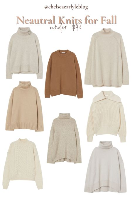 Shop neutral fall sweaters under $40. Perfect for transitioning into fall.  | fall outfit | outfit inspiration | affordable style | affordable oufits | affordable denim | jeans | denim dress | fall dress | fall wedding guest dress | trench coat | coat | jacket | neutral style | sweaters | knits | boots | Chelsea boots | button down | fall layers | hm | h&m |    #LTKunder50 #LTKSeasonal #LTKworkwear