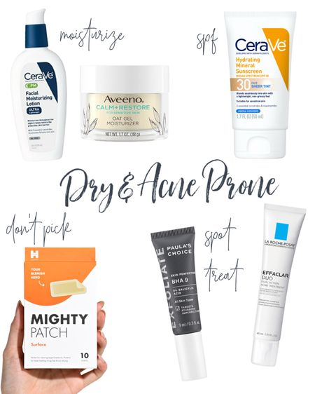 Best products for dry, acne prone skin care. #skincareproducts   #LTKbeauty #LTKunder50
