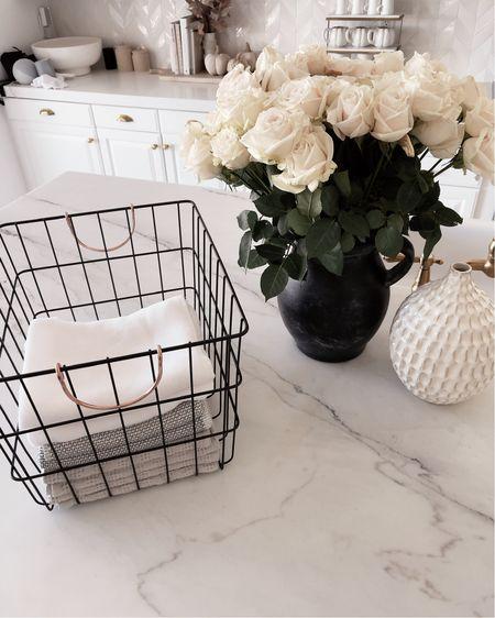 Kitchen counter, kitchen organization, vases, simple home decor, StylinAylinHome   #LTKstyletip #LTKunder100 #LTKhome