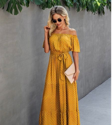 Gimme all the beautiful dresses for summer. This yellow maxi is just to die for!   #LTKunder50 #LTKSeasonal #LTKsalealert
