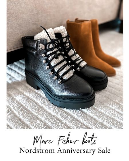 Marc Fisher booties, shearling booties, Nordstrom Anniversary Sale shoes    http://liketk.it/3keqX @liketoknow.it #liketkit  #LTKshoecrush #LTKstyletip #LTKsalealert