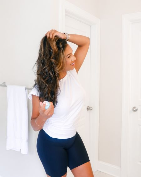 hair products, hair spray, hair tools, casual style, bathroom decor, spanx biker shorts, cozy style  #LTKunder100 #LTKbeauty #LTKunder50