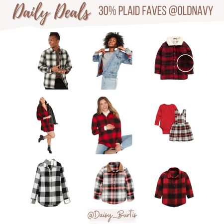 Plaid is a trend that I don't think will ever die! Tons of options on sale + an additional 30% off @oldnavy    #LTKfamily #LTKHoliday #LTKsalealert
