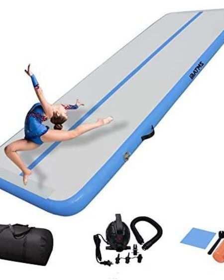 High quality tumbling mat for play or practicing gymnastics skills! My girls joined tumbling this year and love using tumble tracks. Loving how many 5 star reviews there are for this blow up tumble track.   http://liketk.it/3gaDW #liketkit @liketoknow.it #LTKkids #LTKsports #LTKkidssports #LTKgymnastics