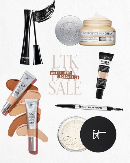 LTK DAY SALE — Exclusive in-app savings from itcosmetics. Save 30% this weekend only when you shop these items and more directly through the LTK app!  — CC cream — Foundation with SPF — Setting power set — Mascara — Facial moisturizer  — Concealer  — Brow pencil  #LTKsalealert #LTKbeauty #LTKDay