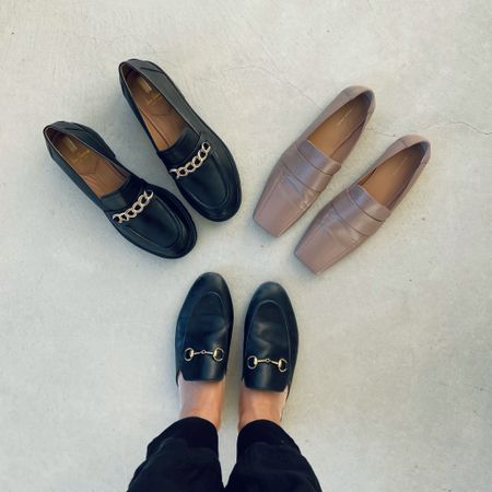 Fall loafers wardrobe ❤️ one pair of lug sole loafers with chain details, one pair of neutral square toe loafers, and one pair of classic loafer mules 🙌  #LTKshoecrush #LTKstyletip #LTKSeasonal