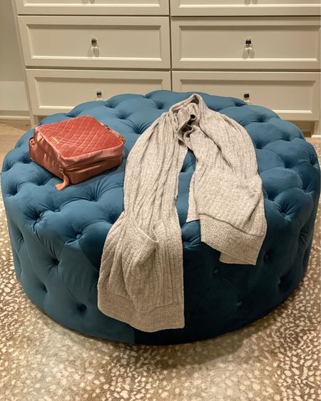 My favorite things right now. Barefoot dreams, ottoman, rug and makeup bag. http://liketk.it/33Ra4 #liketkit @liketoknow.it #LTKgiftspo #LTKhome #LTKitbag @liketoknow.it.home Shop your screenshot of this pic with the LIKEtoKNOW.it shopping app