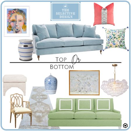 Top or bottom? Which living room are you drawn to?  #LTKstyletip #LTKsalealert #LTKhome